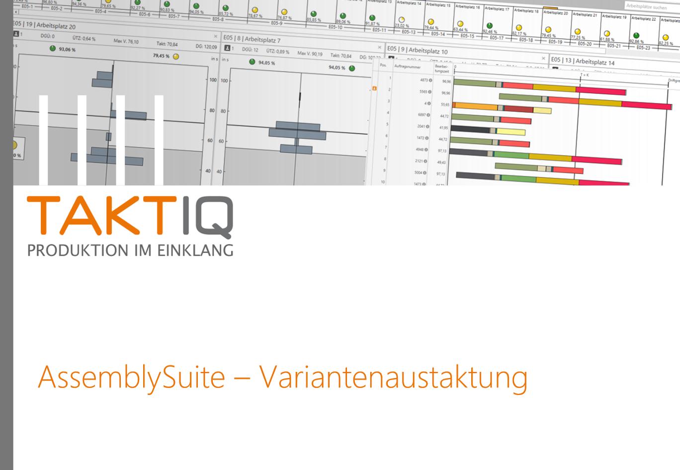 Titelfolie: AssemblySuite Variantenaustaktung