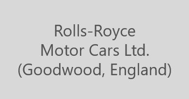 Rolls-Royce Motor Cars Ltd. (Goodwood, England)