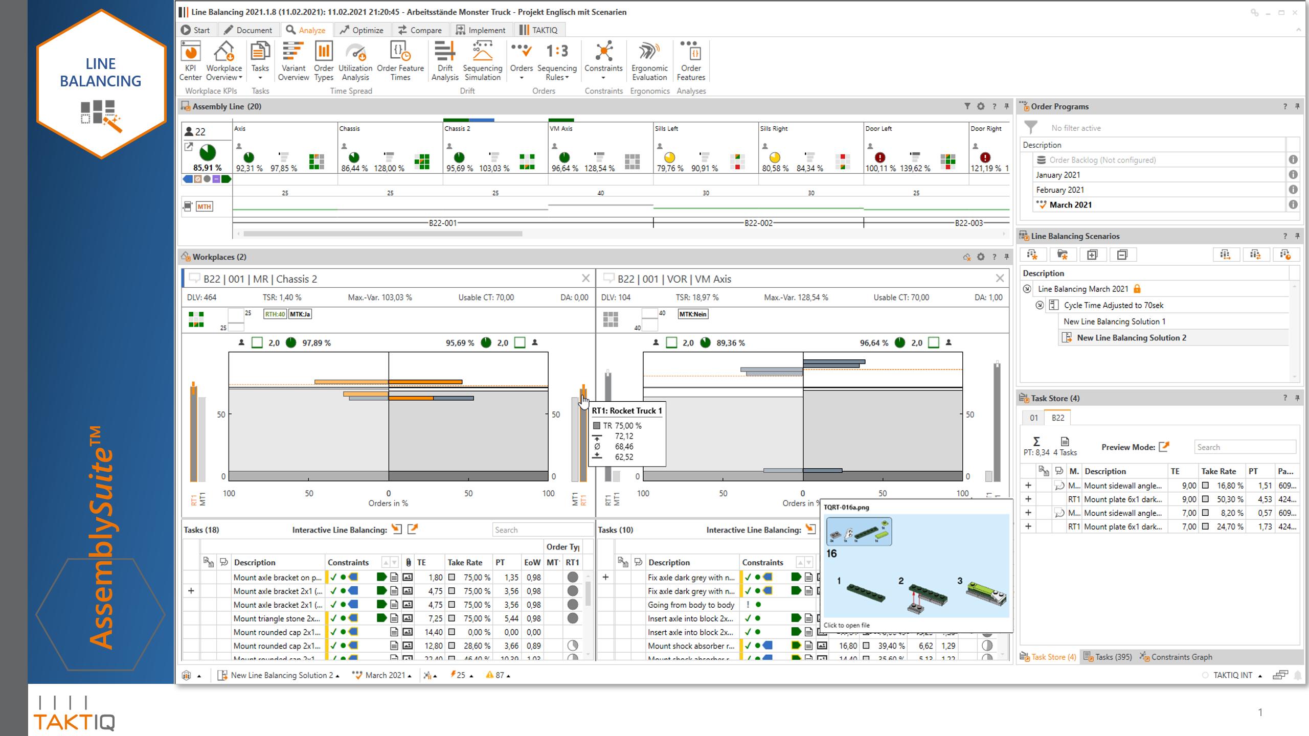 First Slide: AssemblySuite Line Balancing